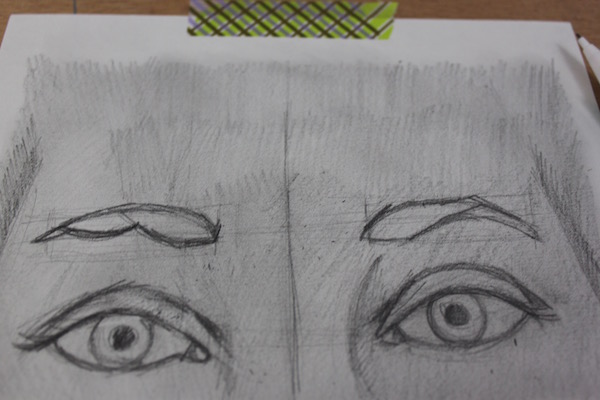Breaking eyebrows into shapes
