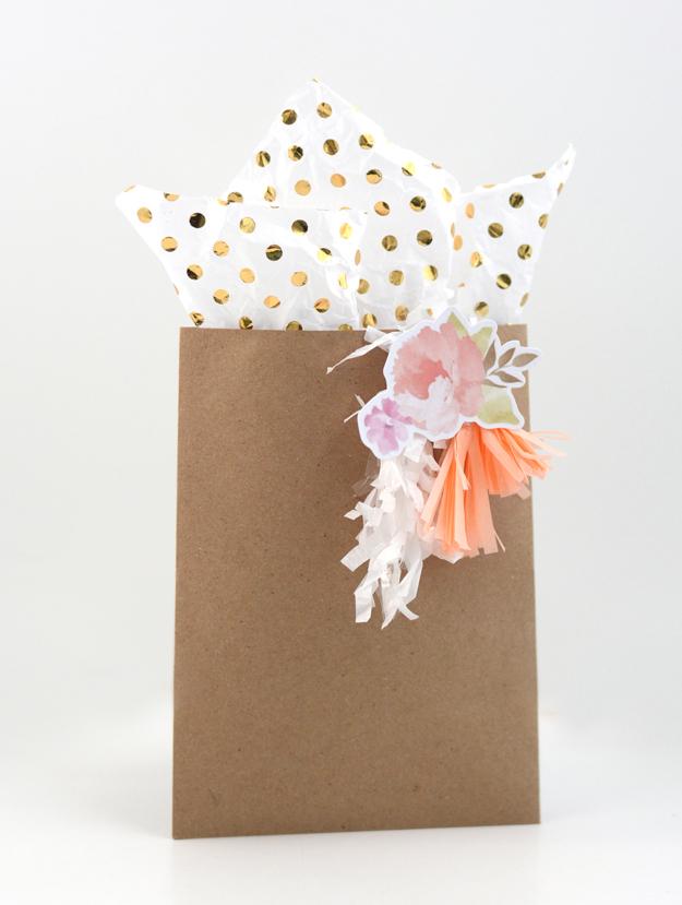 brown flower bag