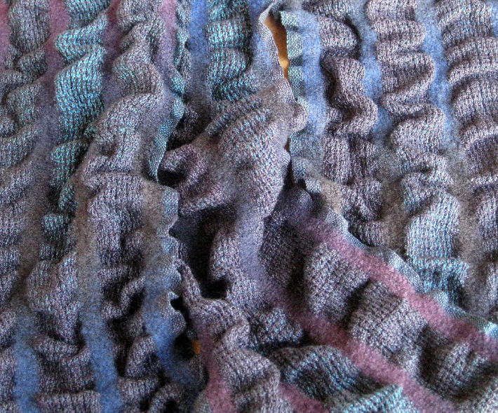 space dyed skeins making wool silk scarf