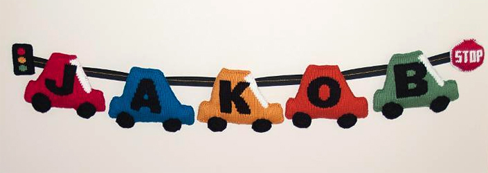 Personalized Car Pennant Knitting Pattern