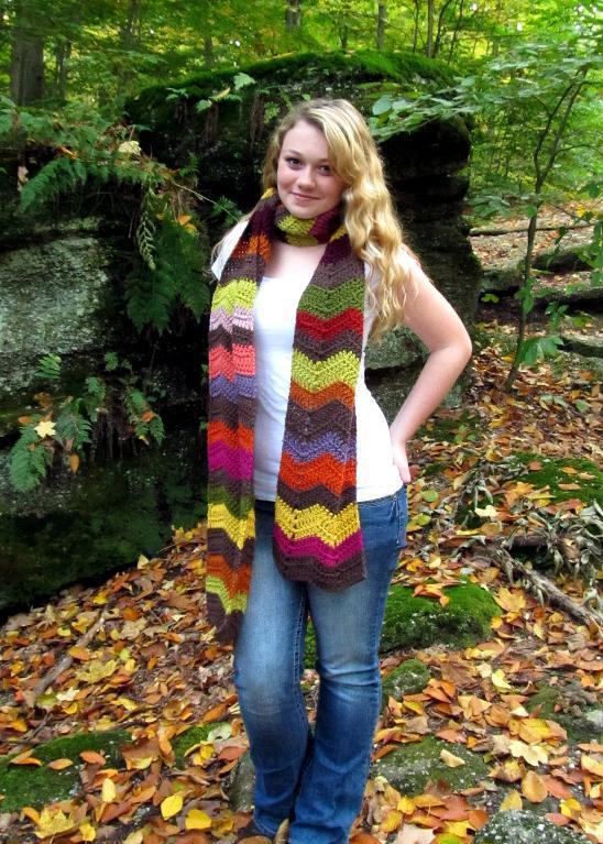 colorful scarf chevron crochet pattern