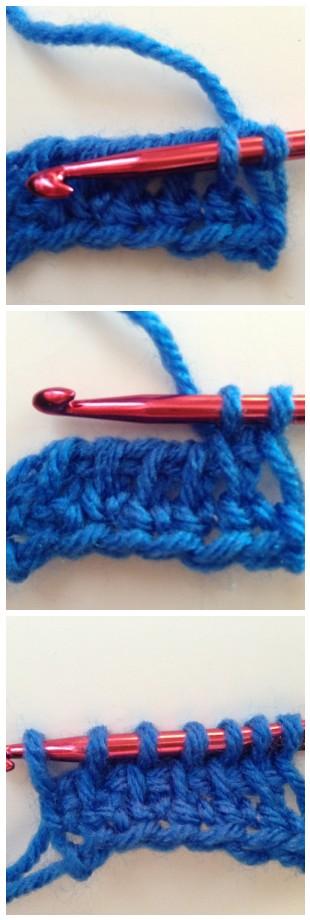 crochet entrelac step three