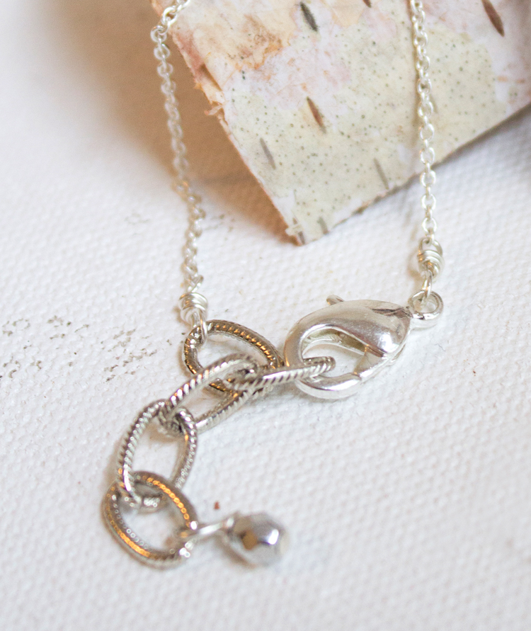 delicate necklace clasp