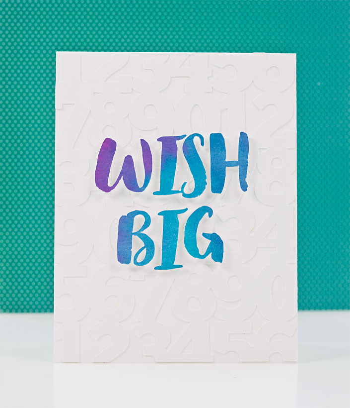 A Bold Handmade Birthday Card with Distress Ink Watercoloring