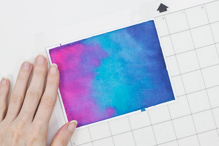 Adhering watercolor paper to Silhouette Cameo mat