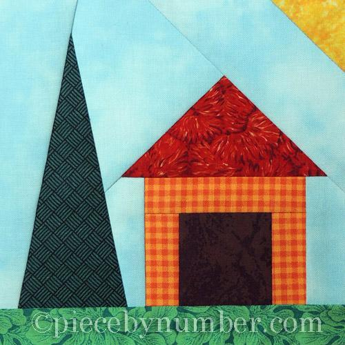 easy paper pieced house pattern