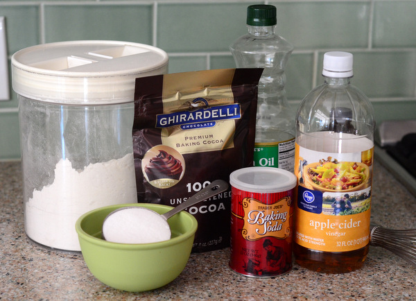 Ingredients for Eggless Chocolate Cake Recipe