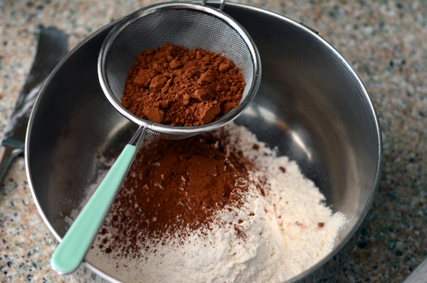 Sifting Flour and Cocoa Powder