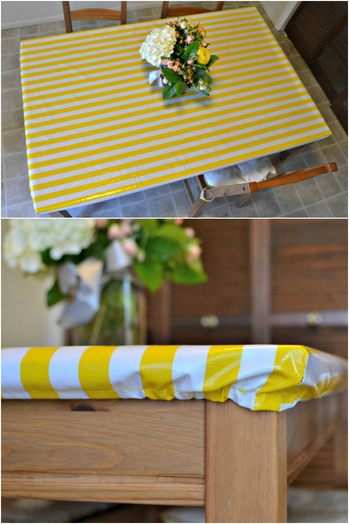 elasticed wipeable tablecloth