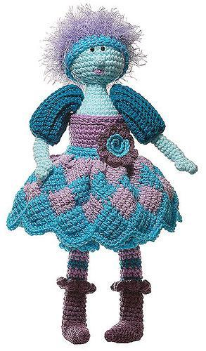 entrelac crochet doll