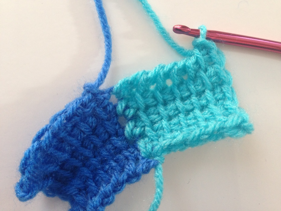 entrelac crochet slip stitches