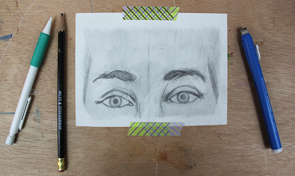 Finished drawing of eyebrows