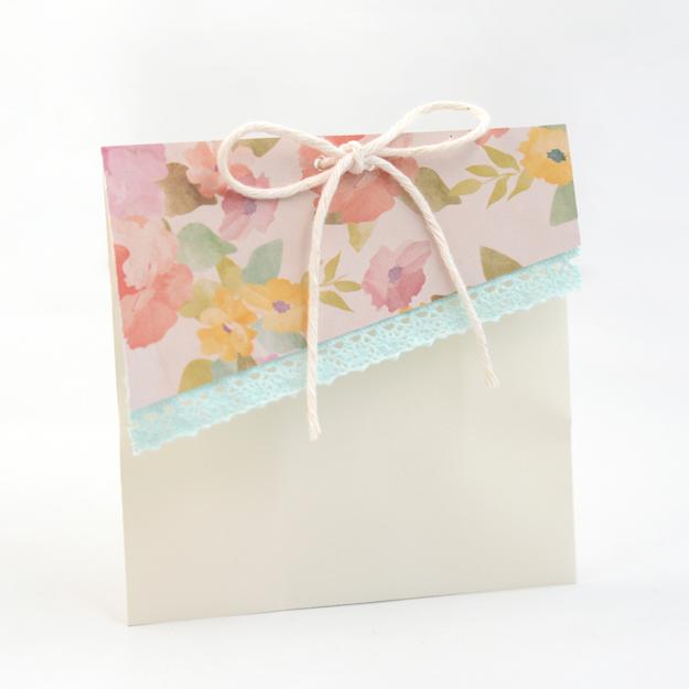 floral flap envelope bag