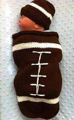 Football Sleeping Sack Knitting Pattern