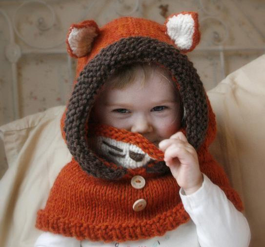 Fox Hood and Cowl Knitting Pattern