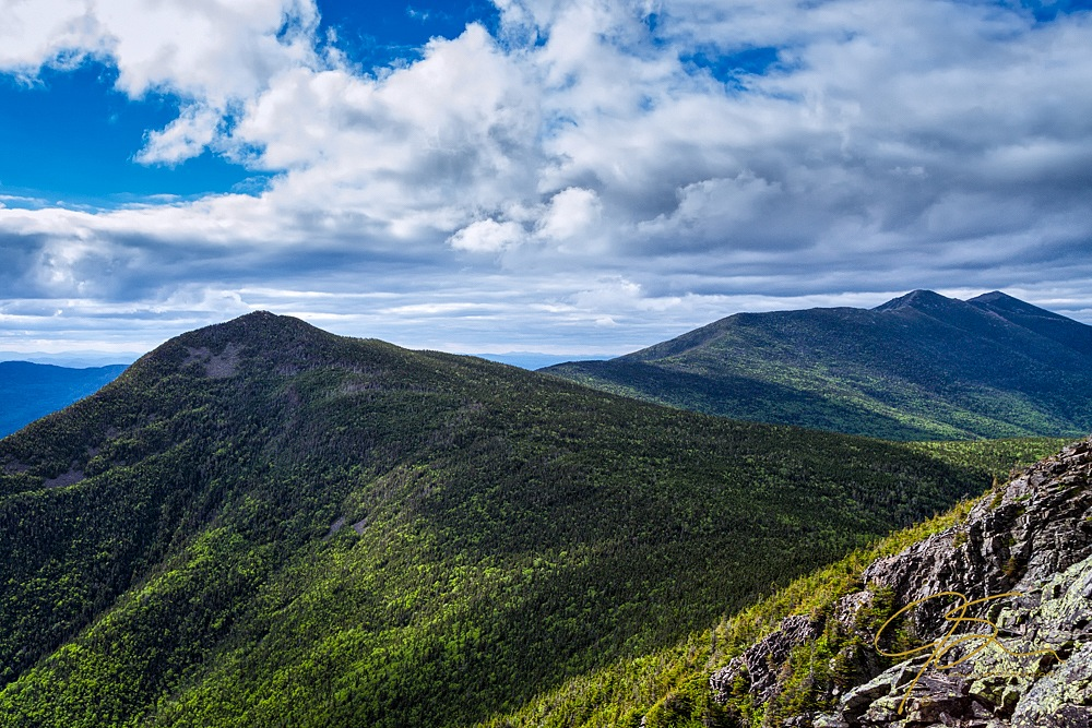 Looking out from Mt. Flume towards Franconia Ridge in New Hampshire's White Mountains