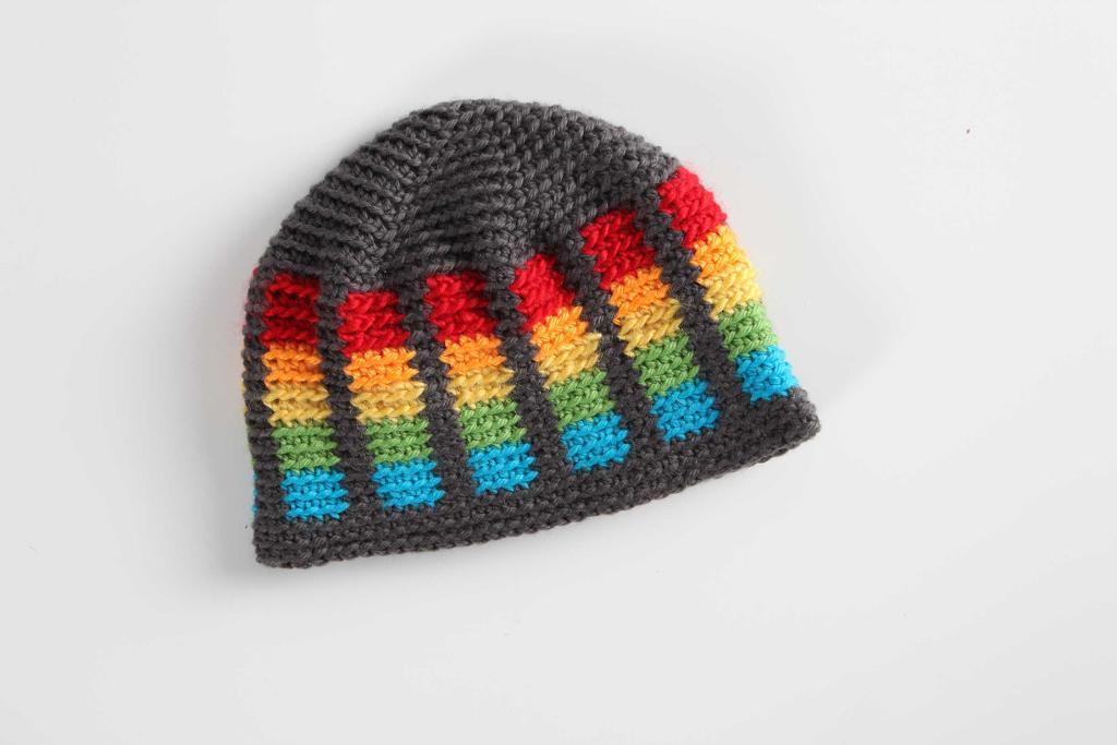 Vibrant Colorwork Crochet Hat Pattern