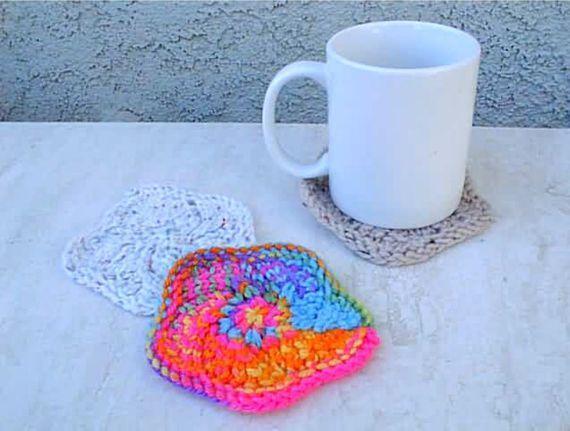 Scalloped Coasters Knitting Pattern