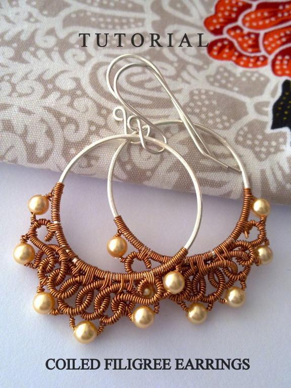 Coiled Filigree Earrings Tutorial