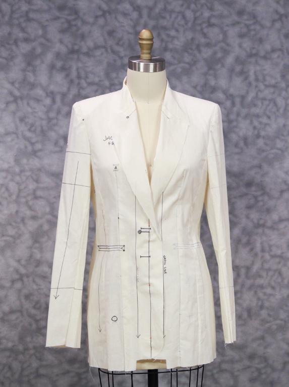 Muslin Jacket on a Dress Form