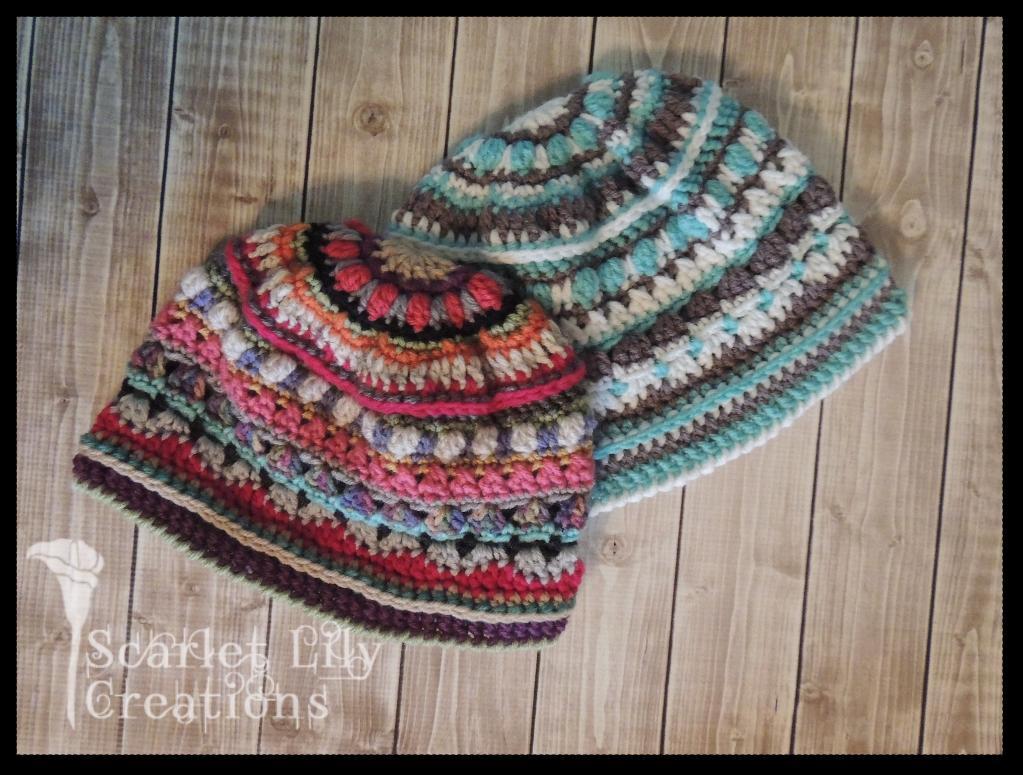 Stitch Sampler Hat Crochet Pattern