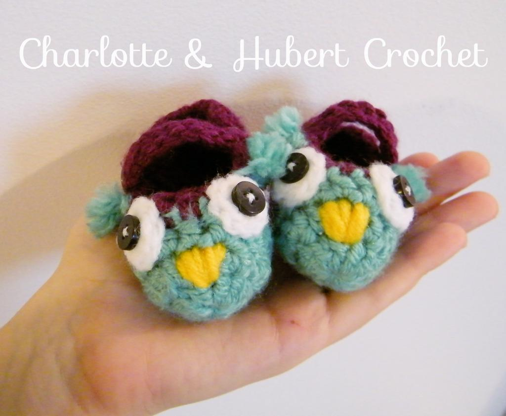 Baby Owl Mary Jane Slippers FREE Crochet Pattern