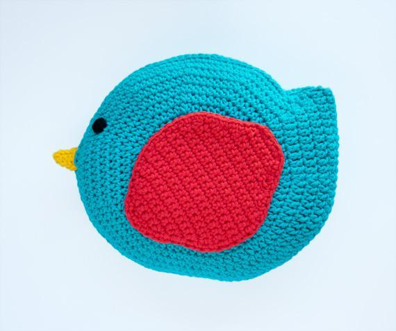 Bird Pillow Crochet Pattern