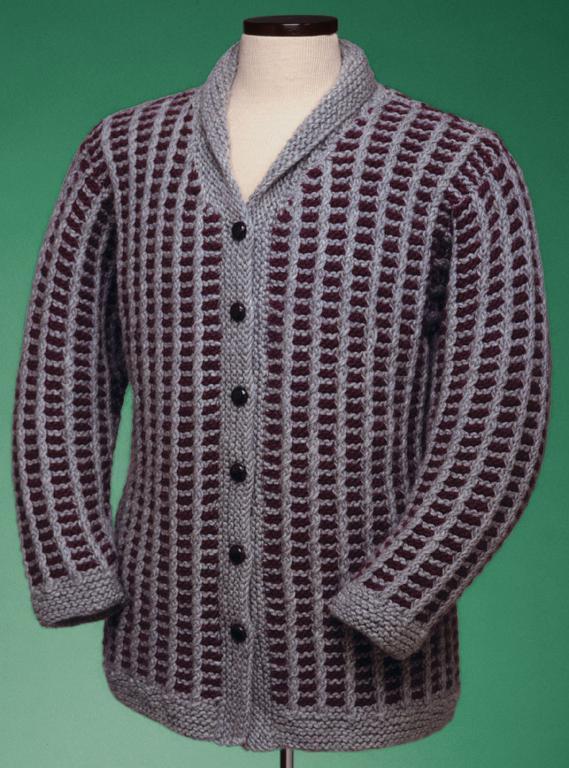 Slip Stitch Coat Knitting Pattern