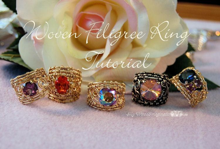 Wire Woven Filigree Rings Tutorial