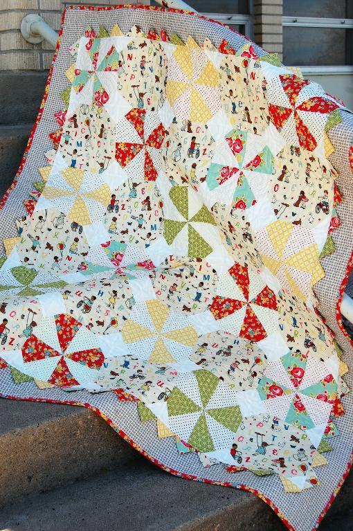 Prairie Pinwheel Baby Quilt Pattern