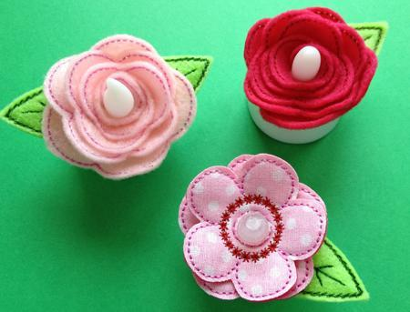 Flower Flameless Tealight Pins