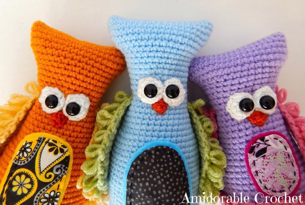 Stuffed Owl Toy FREE Crochet Pattern