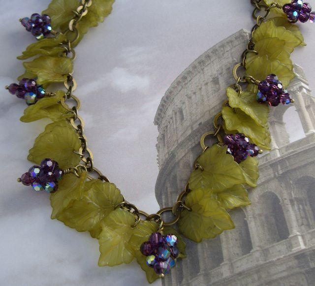 Beaded Crystal Grape Clusters and Lucite