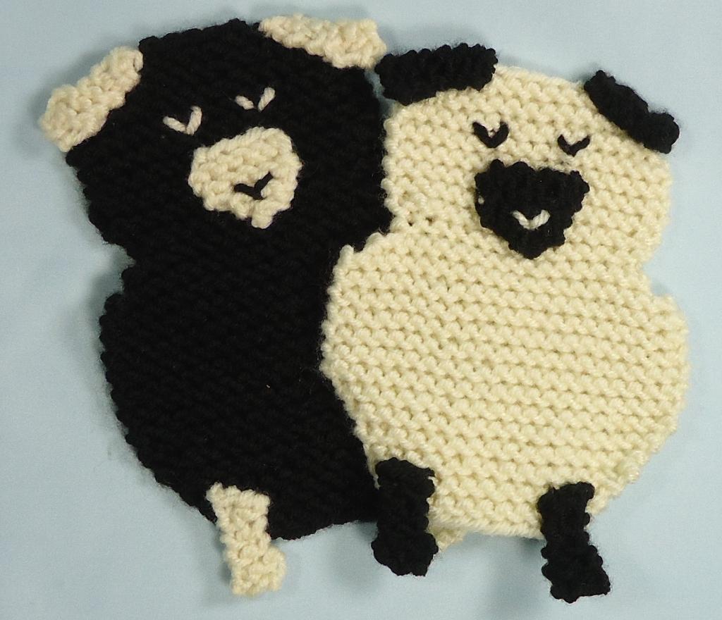 Sheep Coasters Knitting Pattern