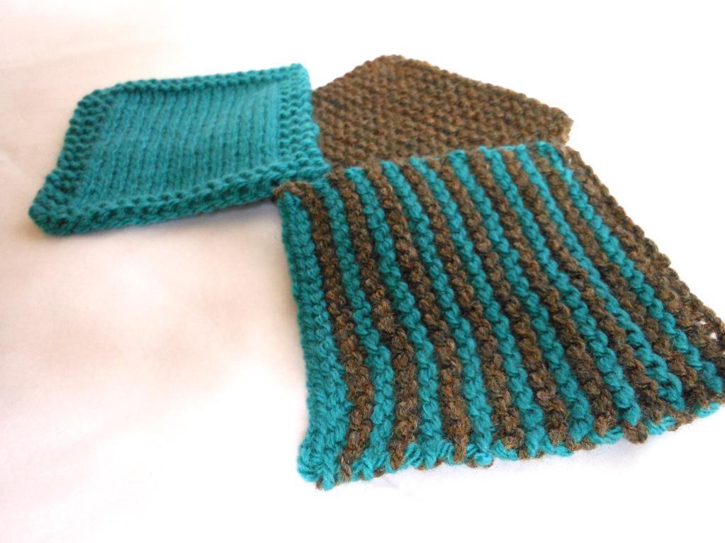 Cup Coasters and Mug Hugs FREE Knitting Pattern