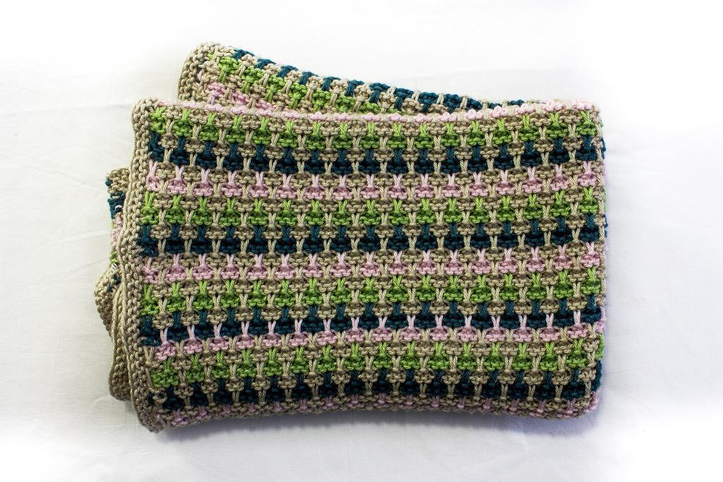 Slip Stitch Baby Blanket Knitting Pattern