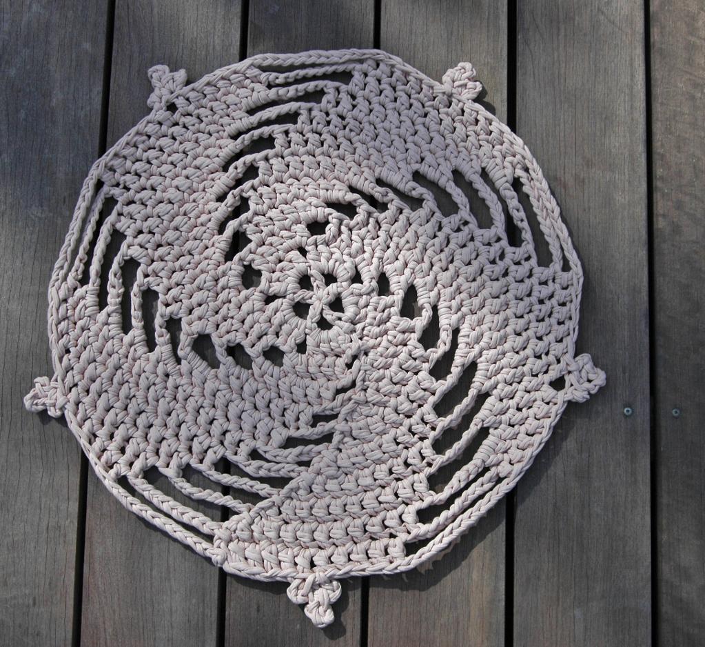 Spirals FREE Rug Crochet Pattern