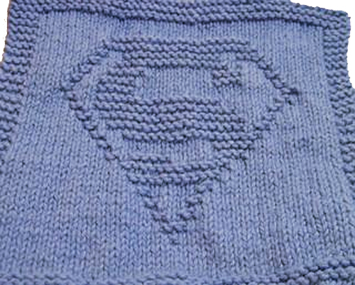 Hero Wash Cloth Free Knitting Pattern