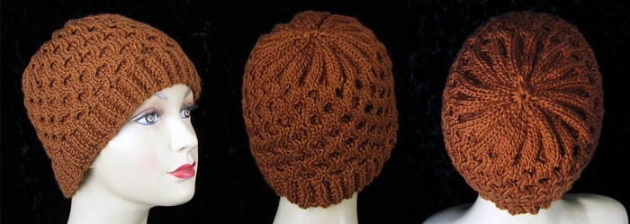 Honeycomb Cable Hat Free Knitting Pattern