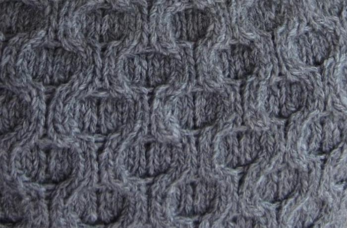 Honeycomb Cable Knitting Stitch