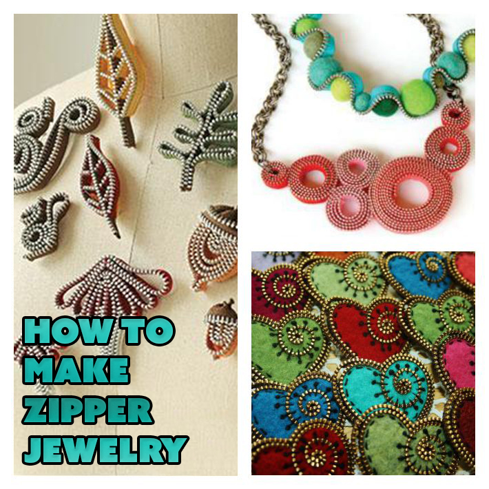 Learn how to make zipper jewelry with these great patterns!
