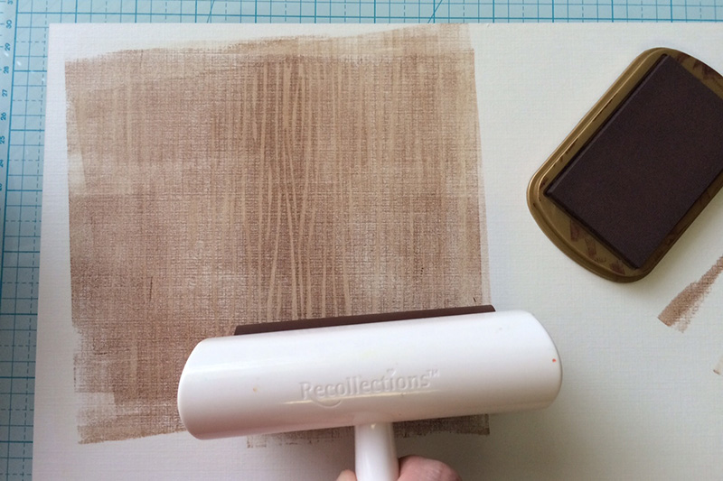 Using an Ink Brayer to Create a Background