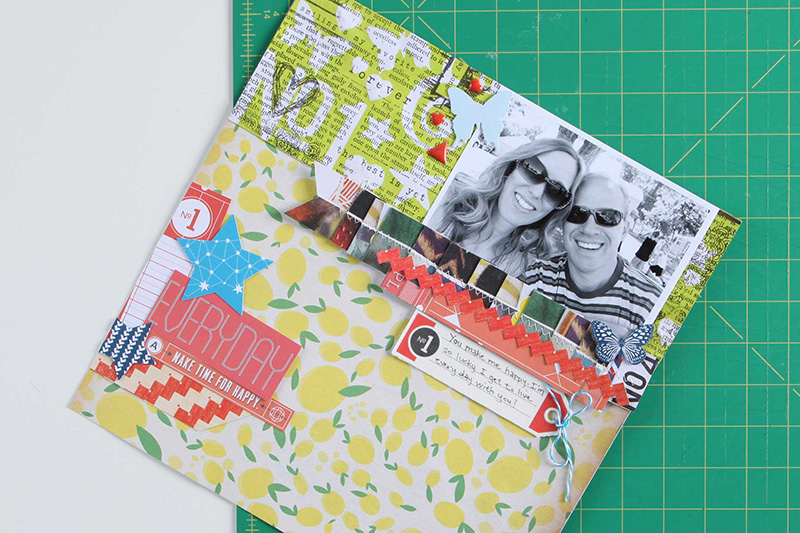 masked background scrapbook page by Aly Dosdall