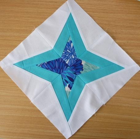 paper pieced diamond star