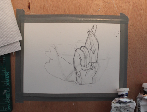 Sketch for the painting