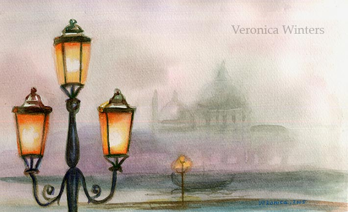 sketching in watercolor
