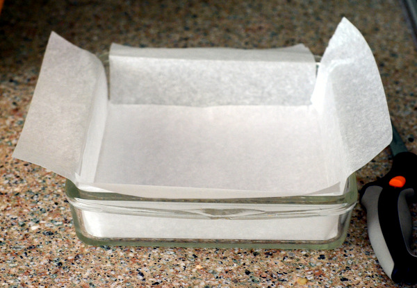 Lining a Pan with Parchment Paper
