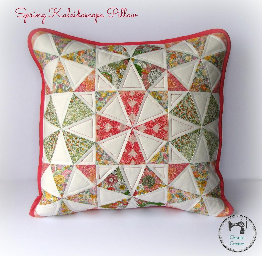 Spring Kaleidoscope Pillow via Charise Creates