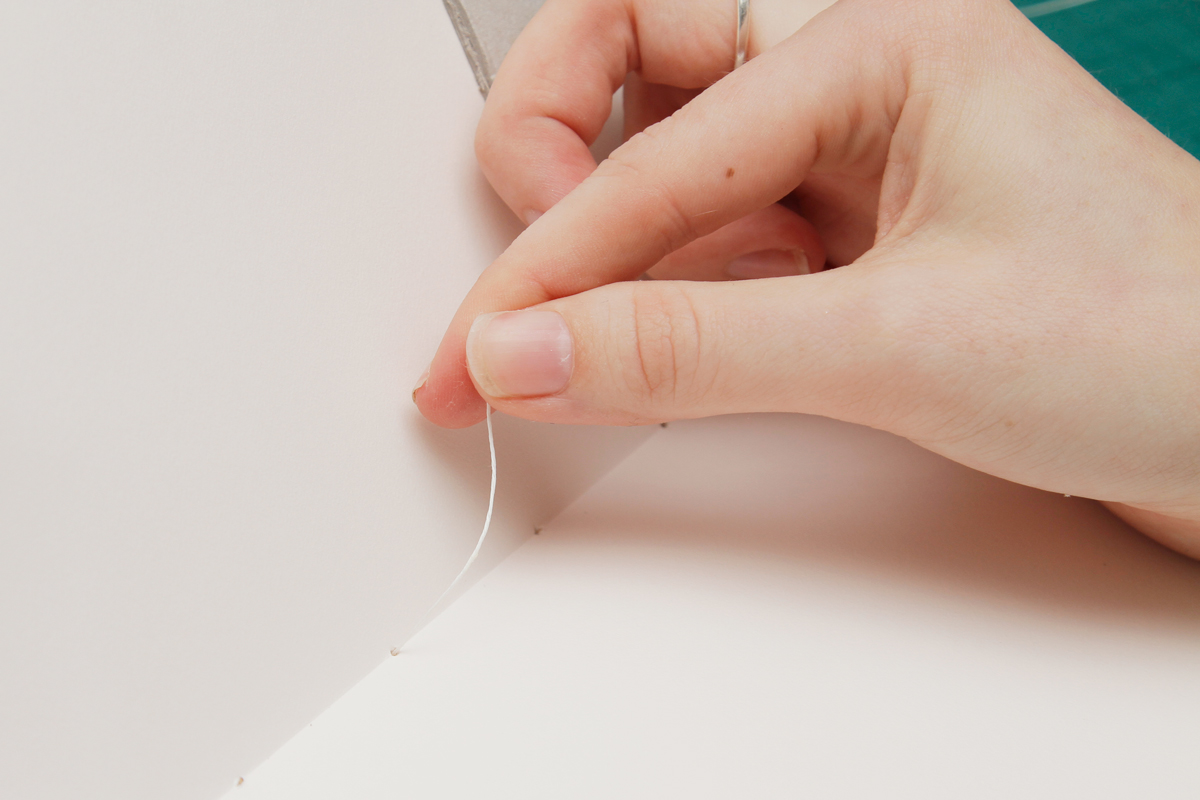 DIY Sketchbook threading