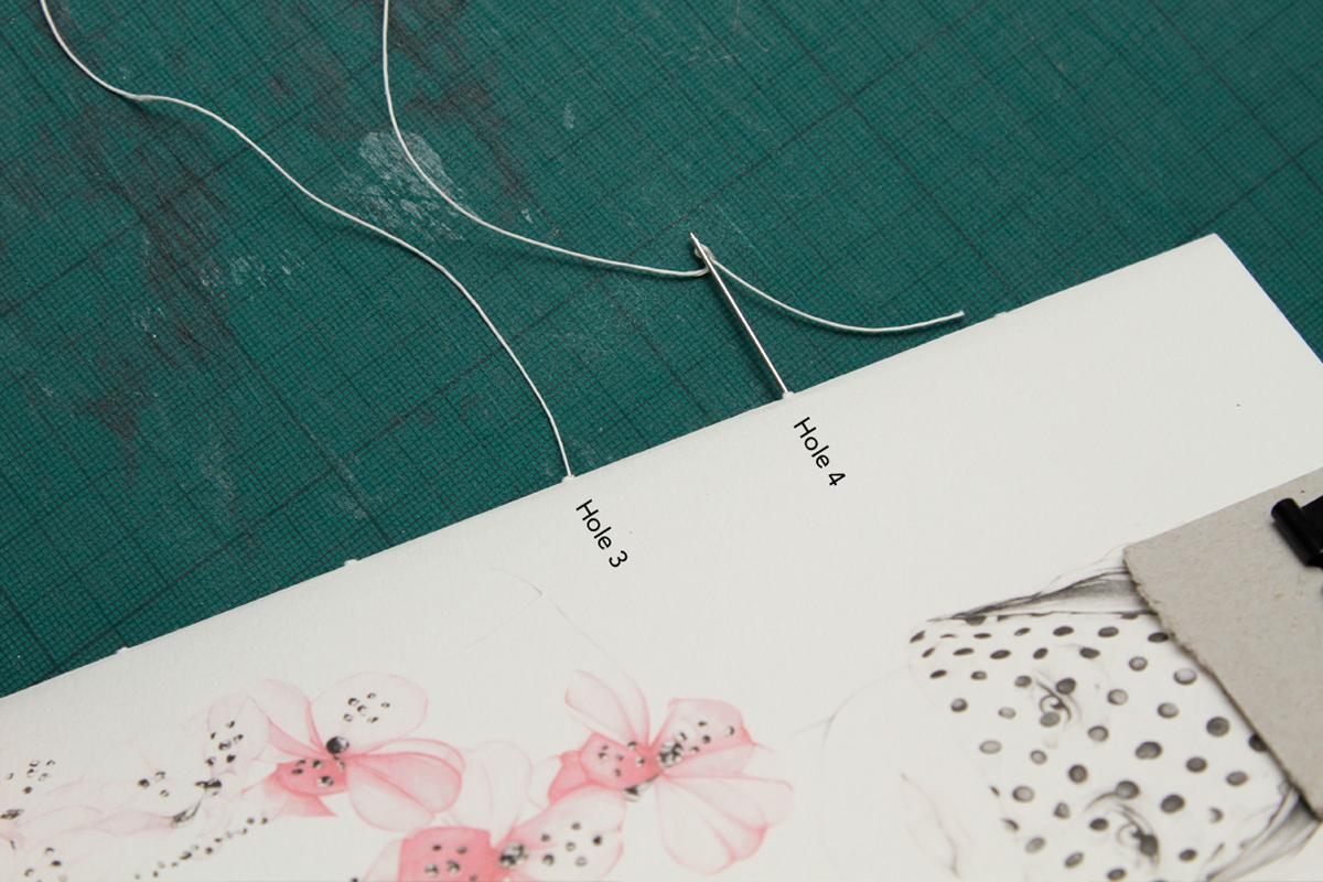 Sewing your DIY Sketchbook